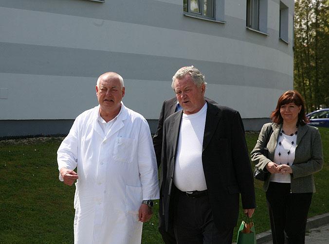 Jaroslav Bican a Jaroslav Zvěřina, exkurze Třeboň - Bertiny Lázně a Lázně Aurora, 2.5.2008, foto: Roman Růžička