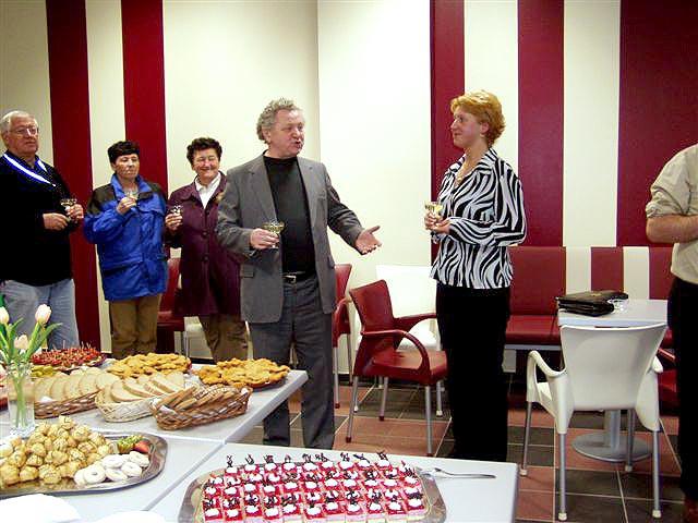Křest nově otevřené kavárny Café Dolce vita, 23. března 2005, obchodní dům Dvořák v Táboře