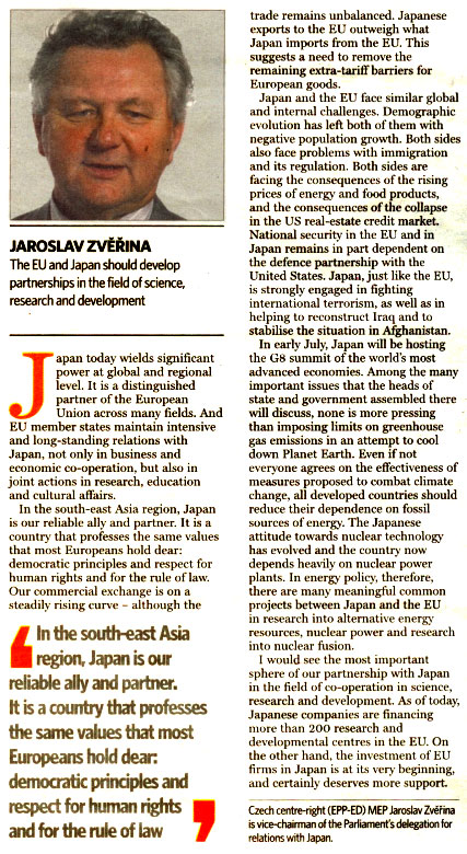 Making a long-distance relationship work, European Voice, 26.6.2008 |