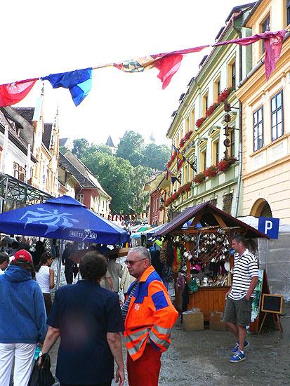 """Návštěva rumunského města Sighisoara během městských slavností """"Medievală 2008 - MASCA"""", 25. - 27. července 2008"""