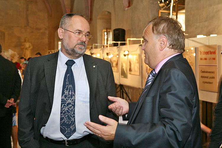"""Vernisáž výstavy """"Dr. Edvard Beneš - československý diplomat, politik a prezident"""" v Táboře, 3.září 2008, foto: Lubor Mrázek"""