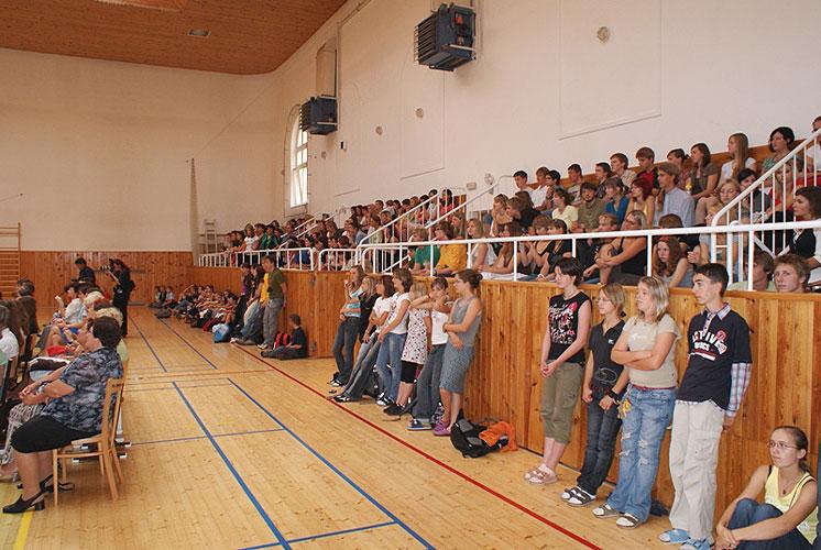 Beseda se studenty Gymnázia Pierra de Coubertina a Táborského soukromého gymnázia, 3. září 2008