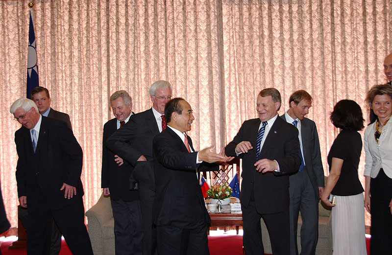 Přijetí delegace Evropského parlamentu prezidentem Taiwanu J.E. panem Ying-jeuo Maem 31.10.2008