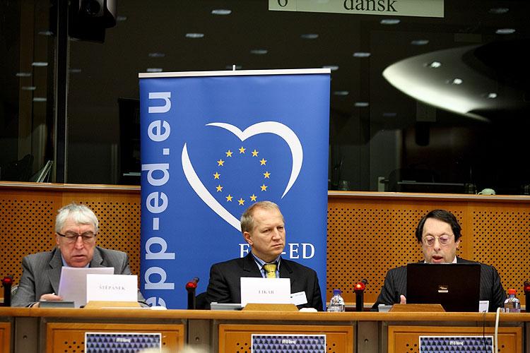 Konference na téma kreativity a inovací v Evropě z iniciativy europoslance Jaroslava Zvěřiny a sdružení Česká hlava pod záštitou poslaneckého klubu EPP-ED, Brusel 29.1.2009, foto: Lubor Mrázek