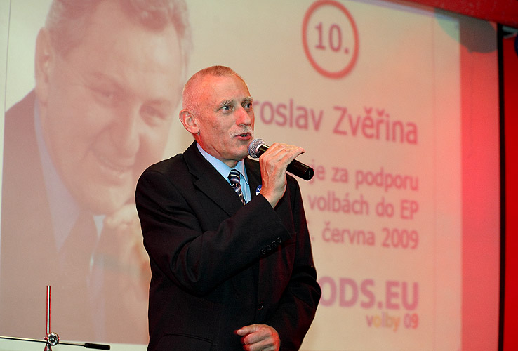 Jan Zahradník, Evropský večer 2009, čtvrtek 16. dubna 2009, foto: Lubor Mrázek
