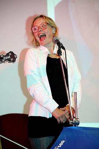 Lenka Plačková, Evropský večer 2009, čtvrtek 16. dubna 2009, foto: Lubor Mrázek