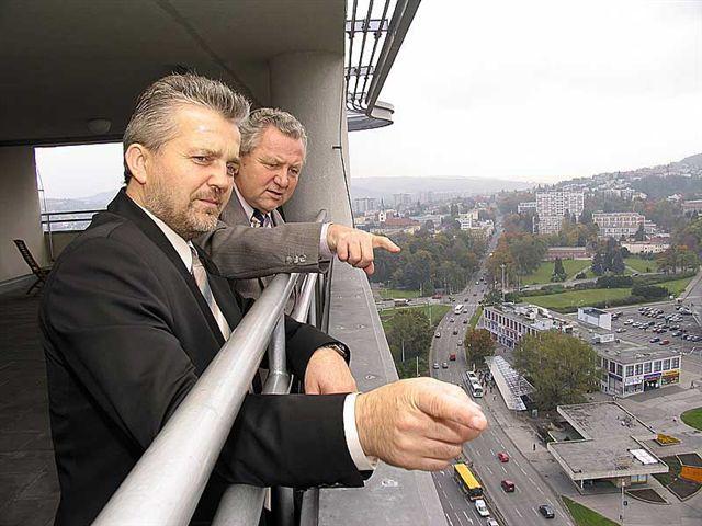 Europoslanec Jaroslav Zvěřina s hejtmanem Zlínského kraje Liborem Lukášem