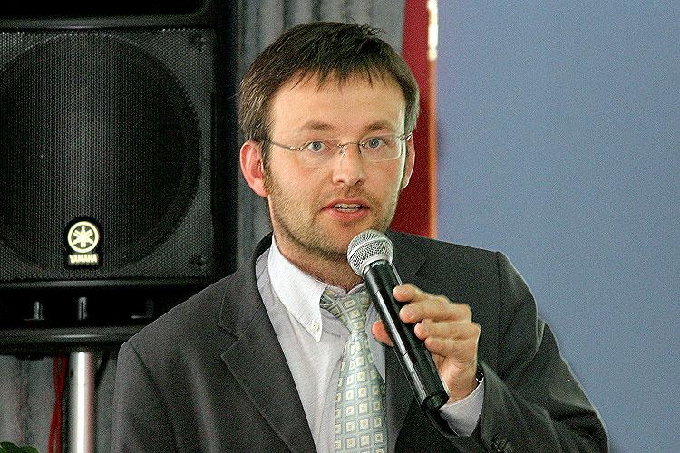 Miroslav Daněk, pracovní setkání pravicových komunálních politiků Jihočeského kraje, 10.4.2006, Hotel LÁZNĚ v Táboře – Čelkovicích, foto: Lubor Mrázek