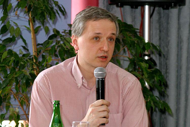 Pavel Tychtl, pracovní setkání pravicových komunálních politiků Jihočeského kraje, 10.4.2006, Hotel LÁZNĚ v Táboře – Čelkovicích, foto: Lubor Mrázek