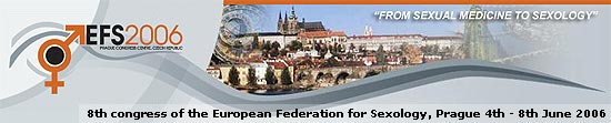 8th congress of the European Federation for Sexology, Prague 4th - 8th June 2006 |