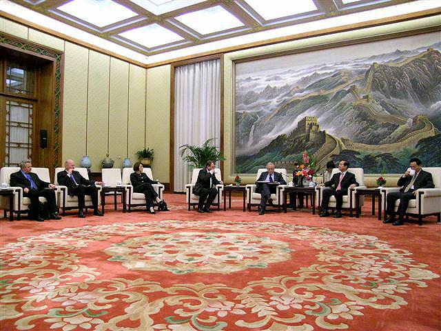 Peking - Národní lidový kongres ČLR - přijetí delegace EP panem Han Qide - místopředsedou Národního lidového kongresu ČLR, návštěva Čínské lidové republiky 8.5. - 11.5.2006