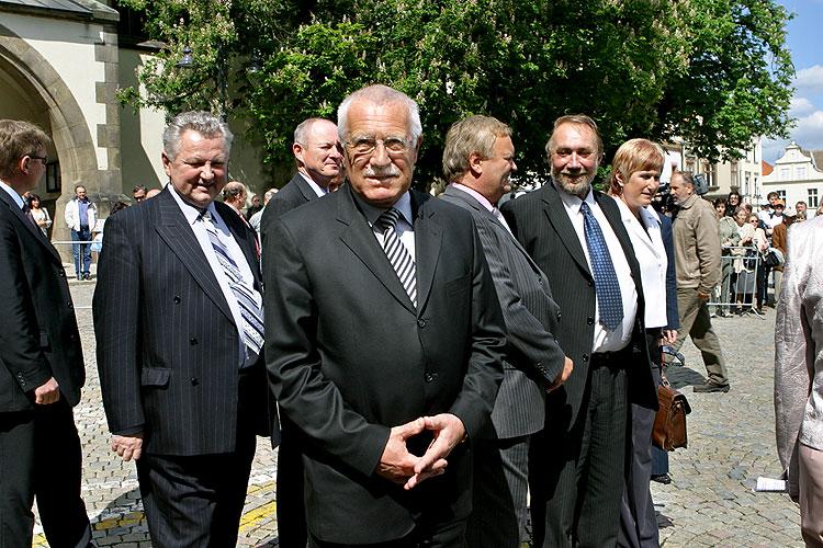Návštěva prezidenta ČR Václava Klause v Táboře v pátek 18. května 2007, foto:  Lubor Mrázek