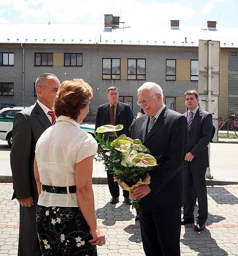 Návštěva prezidenta ČR Václava Klause v Táboře, prohlídka firmy Brisk Tábor, pátek 18. května 2007, foto: Roman Růžička