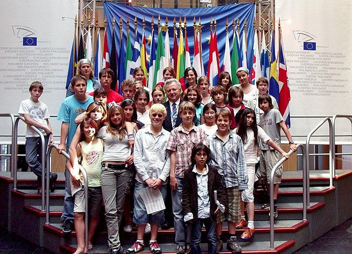Děti z Francouzského lycea v Praze navštívili Evropský parlament  ve Štrasburku