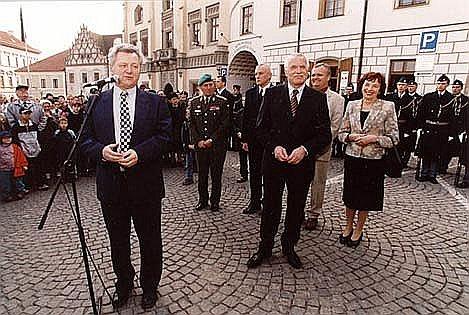 Návštěva prezidentského páru v Táboře, 26.3.2003